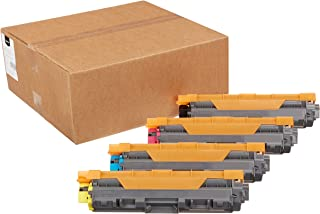 Amazon Basics Remanufactured Standard & High-Yield Toner Cartridges, Replacement for Brother TN221/TN225 (1 Black, 1 Cyan,...