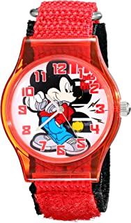 Disney Kids' W001689 Mickey Mouse Analog Red Watch