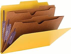 Smead Pressboard Classification File Folder with SafeSHIELD Fasteners, 2 Pocket Dividers, 2