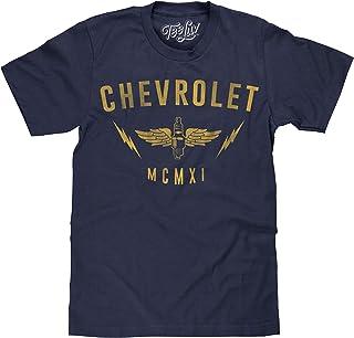 Tee Luv Chevrolet T-Shirt MCMXI - Chevy 1911 Graphic Tee Shirt Navy Heather