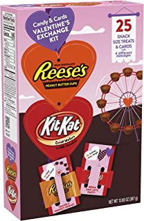 a9b0302b2 Hershey's Valentine's Day Chocolate Candy Exchange Assortment Box with  Cards ...