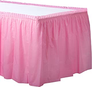 New Pink Plastic Table Skirt | Party Tableware