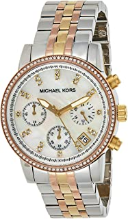 Michael Kors Ritz Women's White Dial Stainless Steel Band Watch - MK5650