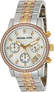 MIFJI|#Michael Kors Womens Quartz Watch, Analog Display and Stainless Steel Strap MK5650