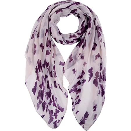 DiaryLook Ladies Women's Fashion Bird Print Long Scarves Floral Neck Scarf Shawl Wrap