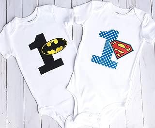 Superhero First Birthday Bodysuit, First Birthday Outfit, First Birthday