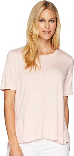 Semi Short Sleeve Crew Top