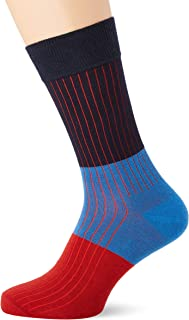 Happy Socks Men's Block Rib Sock, Multicoloured, 41-46