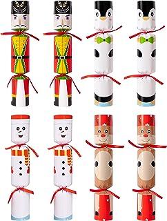 Eternity sky 8PCS Christmas No-snap Party Favors - Snowman Reindeer Nutcracker Penguin No-pop Holiday Supplies for Kids Ad...