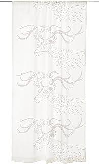 Vallila Rudolf Fancy Curtain Panel, White, 140 x 250 cm