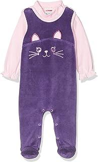Schnizler Baby-Mädchen Strampler-Set Katze aus Nicki mit Langarmshirt