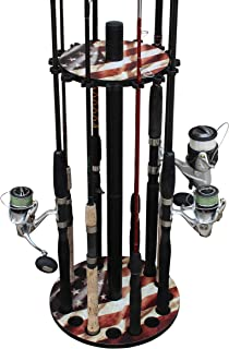 Realtree Camo Round 16 Fishing Rod Storage Rack