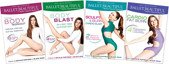 Ballet Beautiful - Classic Body Toning and Cardio Blast DVD Workout Bundles. Mary Helen Bowers Barre Dance Inspired Fitness DVD