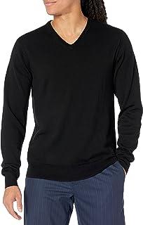 Goodthreads Men's Lightweight Merino Wool V-Neck Sweater