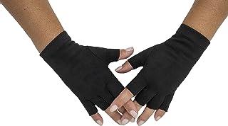 Sebeto Un paio di Guanti Moda Donna Eleganti Invernali e Caldi in EcoSuede senza dita Taglia Unica neri Made in Italy Tota...