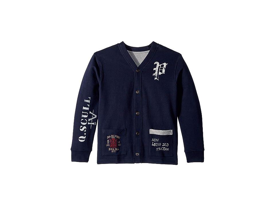 Polo Ralph Lauren Kids Reversible Fleece Cardigan (Big Kids) (RL Navy) Boy