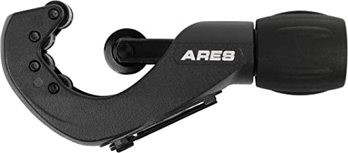 ARES 18009 - Telescoping Tubing Cutter - Cuts 1/8-Inch to 1 3/8-Inch Copper, Aluminum and Brass Tubing - Lightweight Aluminum Body with Ergonomic Handle - Foldaway Reamer - Spare Cutting Wheel