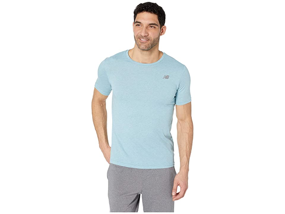 New Balance Heather Tech Short Sleeve (Bluefrog) Men