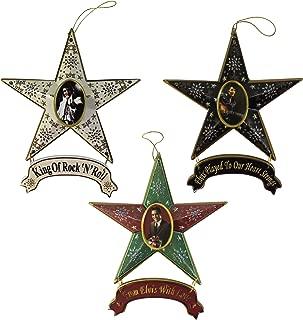Elvis Presley Star Collectible Christmas Ornament 3-Piece Set