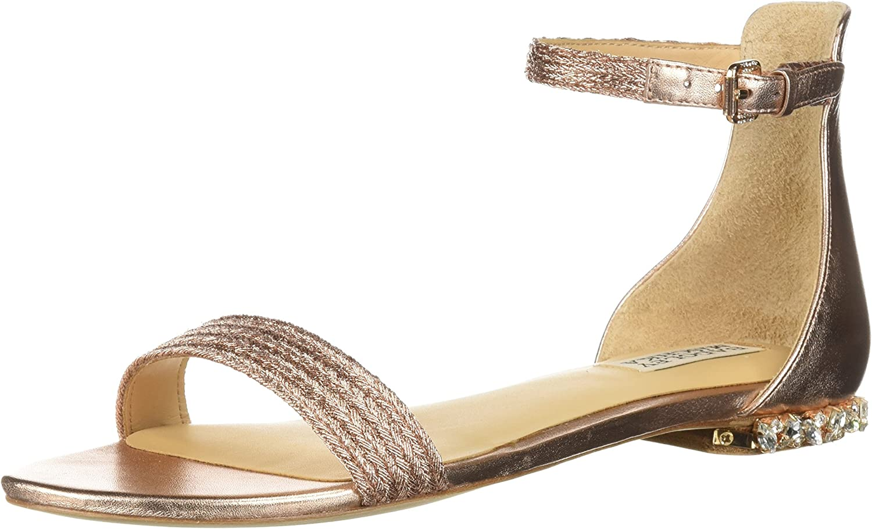 Badgley Mischka Damen Steffi Flache Flache Sandale  Online-Outlet-Verkauf