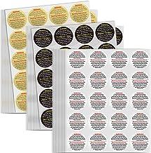 600 قطعة من ملصقات تحذير للشموع مقاس 1.5 انش دائرية الشكل، الوان متنوعة ذهبي، وابيض، واسود