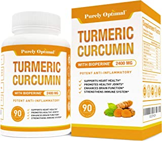 Premium Turmeric Curcumin with Bioperine 2400MG - Highest Strength & Potency 95% Curcuminoids - Pain Relief & Joint Suppor...