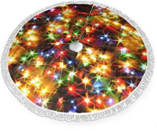 SLAFD Colorful Light at Night Traditional Tassel Lace Christmas Tree Dress 36 Inch Party Decoration