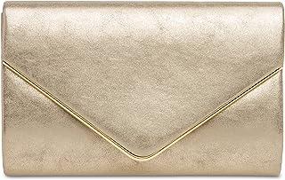 sac /à main Caspar TA504 Pochette de soir/ée /él/égante et brillante pour femme