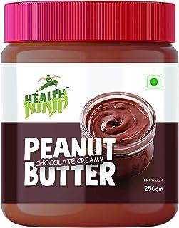 HEALTH NINJA CHOCOLATE CREAMY PEANUT BUTTER ( 250GM JAR)
