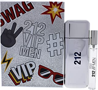 212 Vip by Carolina Herrera Gift Set -- 3.4 oz Eau De Toilette Spray + .34 oz Mini EDT Spray / -- (Men)