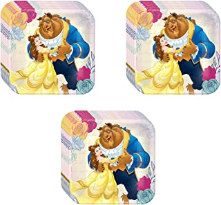 Disney Beauty and The Beast Party Dessert Plates - 24 Pieces