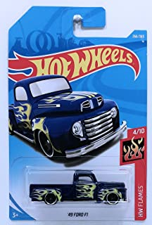 Hot Wheels Mattel 2018 Hw Flames - '49 Ford F1 Truck (Blue) 266/365