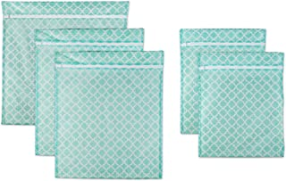DII Set of 5 Mesh Laundry Bags for Delicates, Bra, Underwear, Hosiery, Stocking, Lingerie, Travel Storage, and Closet Organization - 1 XX-Large, 2 X-Large, 2 Large