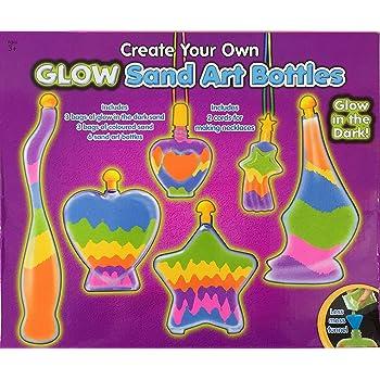 Children's Glow in the Dark Bottle Sand Art Make Your Own Craft Activity Kit