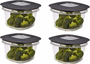 Rubbermaid Premier Food Storage Container, 2 Cup, Grey (4 Pack)