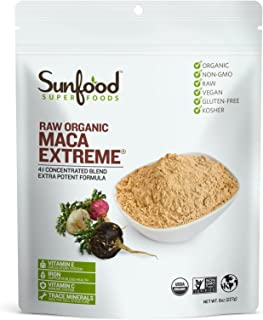 Sunfood Superfoods Maca Extreme- Maca Root Powder. Highest Potency, Strongest Concentration. for Men & Women. 100% Pure, C...