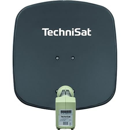 Technisat Digidish 45 Satelliten Schüssel Für 2 Teilnehmer 45 Cm Kleine Sat Anlage Komplettset Mit Wandhalterung Und Universal Twin Lnb Grau Heimkino Tv Video