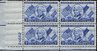 arrival of lafayette in america stamp