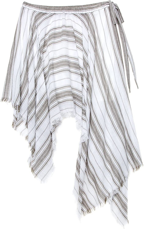 Max Studio London Womens Striped Asymmetrical Skirt