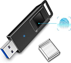 USB 3.0 Flash Drive, K&ZZ 64G Encrypted Flash Drive Fingerprint Recognition Thumb Drive High Speed Jump Drive Secure Storage Data Protection Memory Stick for Business Traveler Office MacBook PC
