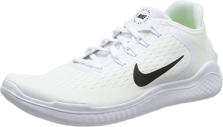 Nike Free Rn 2018 Sz 10.5 Mens Running White Black shoes