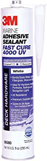 3M Marine Adhesive Sealant 4000 UV, PN06580, White, 295 mL Cartridge