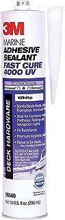 3M 06580 Marine Adhesive/Sealant Fast Cure 4000 UV, White / 1/10 Gallon