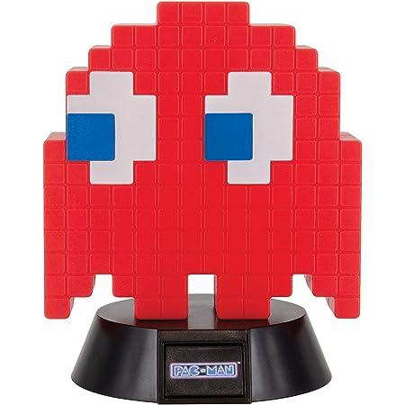 PAC-MAN Lampe Blinky rot/schwarz, aus Kunststoff, kommt in Geschenkkarton, inkl. USB Kabel.