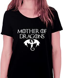 Game of Thrones Mother of Dragons Round Neck T-Shirt For Women