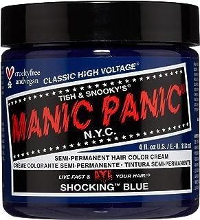 Manic Panic Shocking Blue Color Cream – Classic High Voltage - Semi-Permanent Hair Dye - Vivid, Blue Shade - For Dark, Lig...