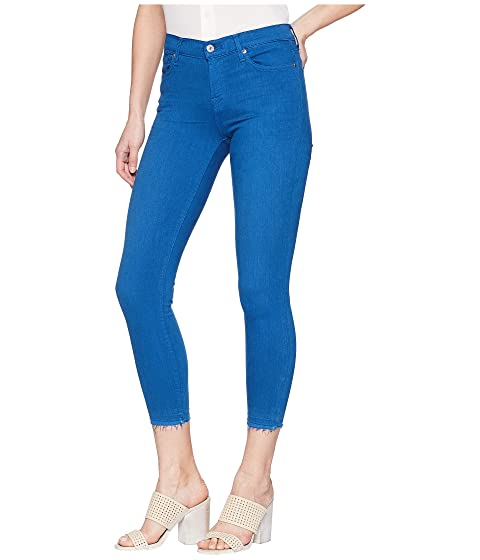 7 For All Mankind The Ankle Skinny w/ Released Hem in Cobalt Blue Cobalt Blue For Sale Clearance Store For Sale Shop Offer Good Selling Cheap Online Free Shipping The Cheapest zACx3YJ