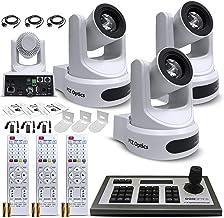 3 x PTZOptics 20x-SDI Gen2 Live Streaming Camera (White) (PT20X-SDI-WH-G2) + 3 x Universal Wall...