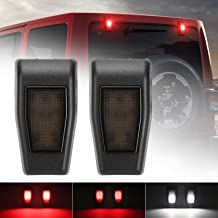 Jeep JK Rear Window Hinge Covers Liftgate Glass Hinge Cover Trim for 2007-2017 Jeep Wrangler JK Right /& Left Pair with LED Brake Light