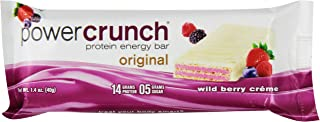 Bionutritional Power Crunch Protein Energy Bars, Wild Berry Creme,  Bars, 1.4 Ounce (12 Count)